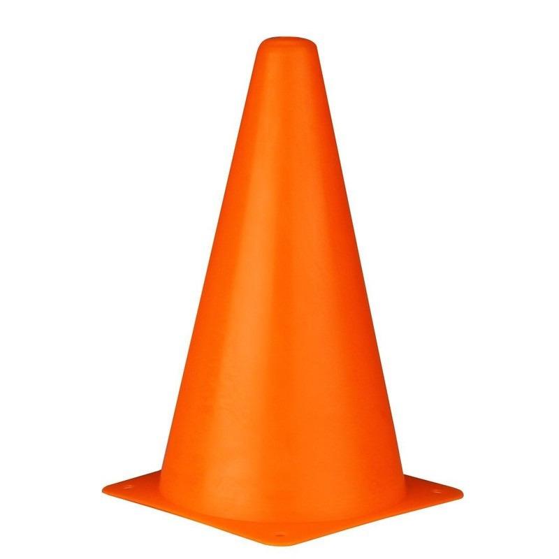 4x voetbal pionnen oranje 22 cm